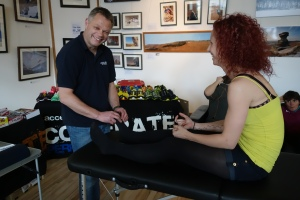 Colin Papworth, Accelerate UK checking Emma's feet