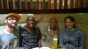 New friends, Drs Keletso and Barbara Nyathi of Maerua Medical Centre, Namiba.