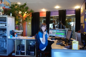 Kirsty at Radiowave, just as bouncy a person as Emma