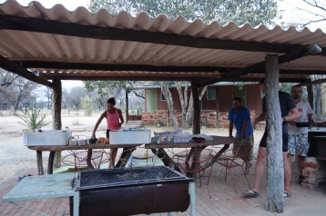 Omega rest camp complete with BBQ, showers and very friendly and helpful owners