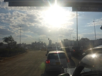 Harare traffic, usually only bad at rush hour