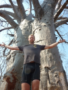 Mike and a baobab